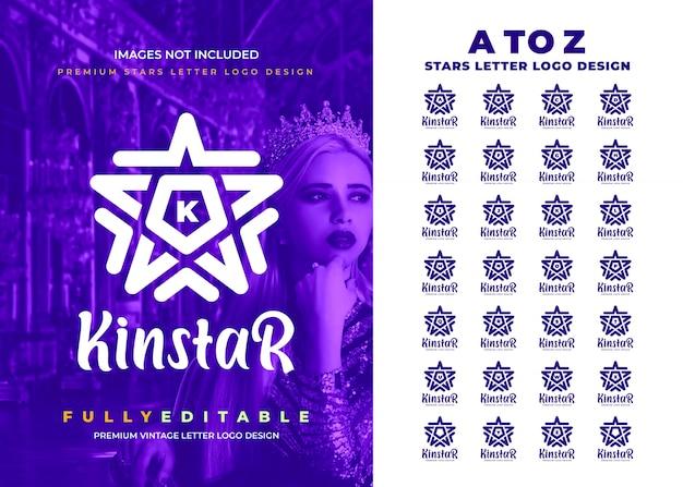 Logotipo de letra vintage pro star to z