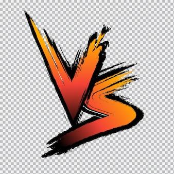 Logotipo de la letra vs versus vs letras sobre fondo transparente ilustración vectorial de la competencia