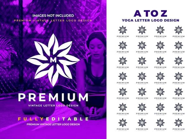 Logotipo de la letra a de la z de la flor