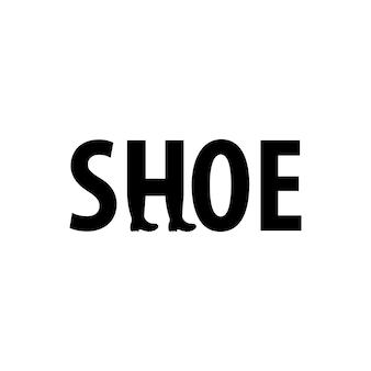 Logotipo de letras de zapatos