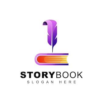 Logotipo de libro de vida de historia