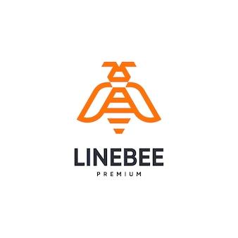 Logotipo de línea de abeja