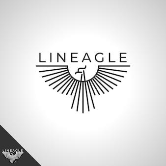 Logotipo de línea águila