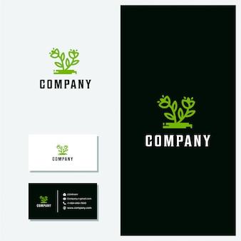 Logotipo de la línea de flores vector minimalista