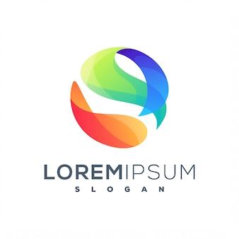 Logotipo líquido abstracto círculo