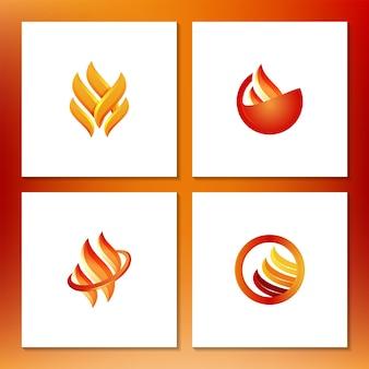 Logotipo de llama de fuego