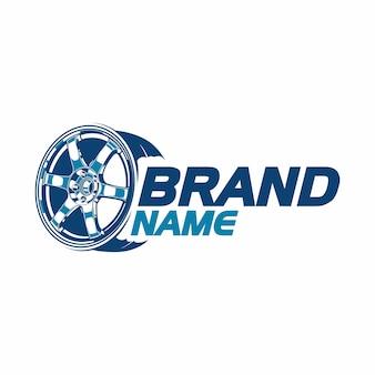 Logotipo de llantas o ruedas de autos deportivos