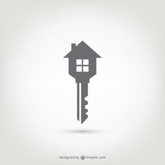 Logotipo de la llave casa