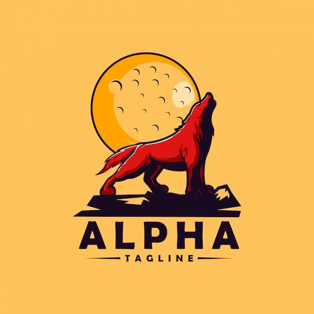 Logotipo de lobo alfa