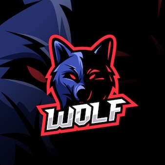 Logotipo de lobo esport impresionante