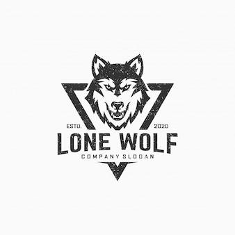 Logotipo de lobo solitario
