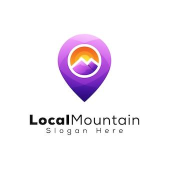 Logotipo local de montaña
