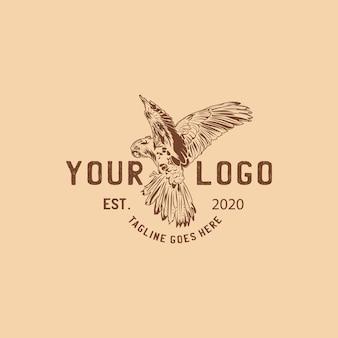 Logotipo de loro vintage