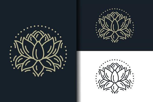 Logotipo de loto abstracto