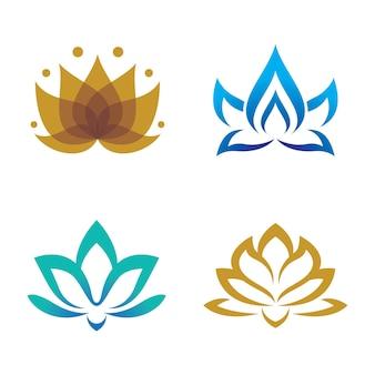 Logotipo de loto de belleza