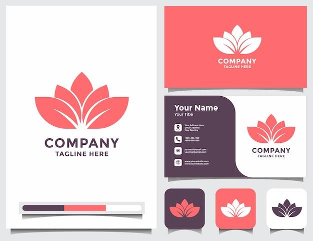 Logotipo de loto con tarjeta de visita