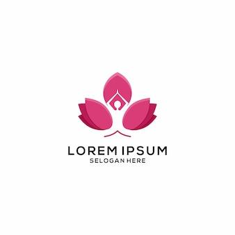 Logotipo de loto de yoga