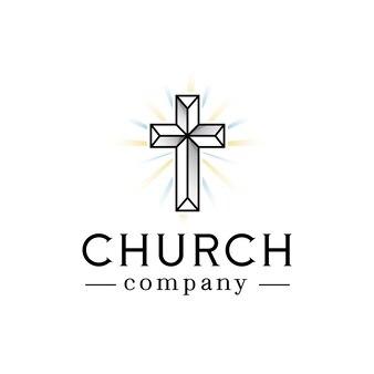 Logotipo de luces de fe de la iglesia