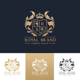 Logotipo de lujo. crestas. diseño de logo para hotel, resort, restaurante, bienes inmuebles, spa, fashion brand identity