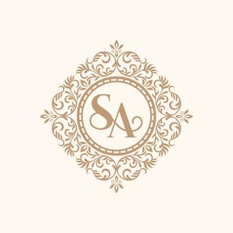 Logotipo de lujo dorado vintage