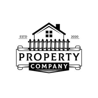 Logotipo de lujo inmobiliario