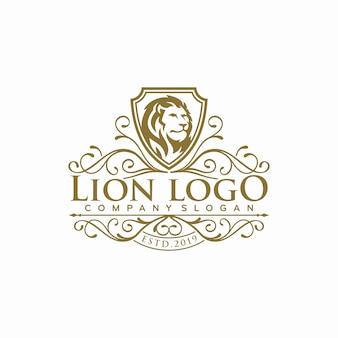 Logotipo de lujo del león s