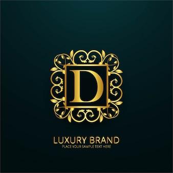 Logotipo de lujo de la letra d