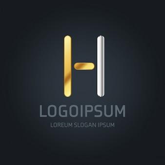 Logotipo de lujo con la letra h