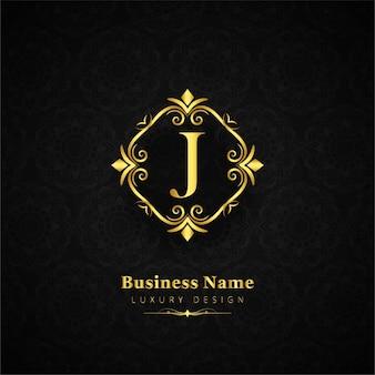 Logotipo de lujo de la letra j