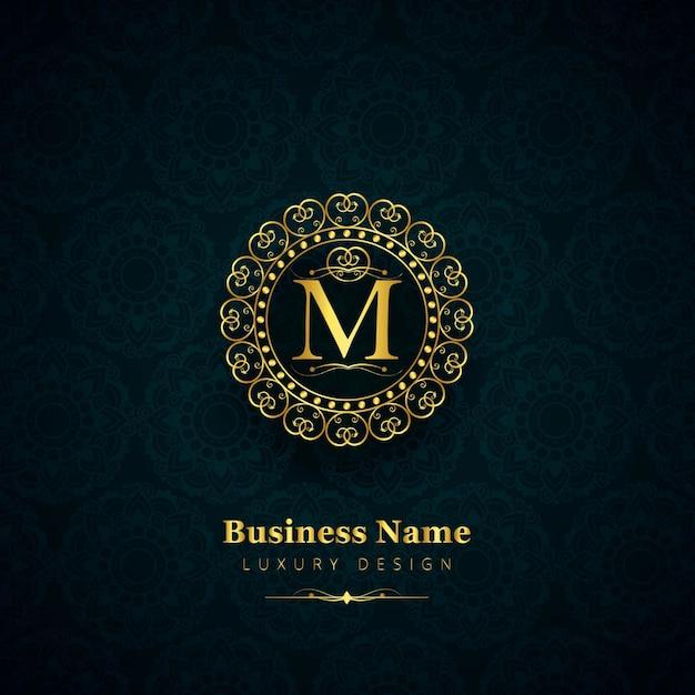 Logotipo de lujo de la letra m