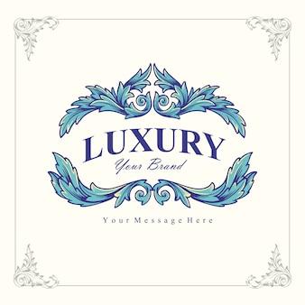 Logotipo de lujo de la marca vintage
