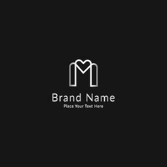 Logotipo de lujo moderno letra m
