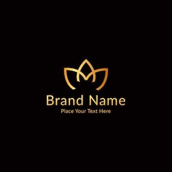 Logotipo de lujo moderno letra a y m