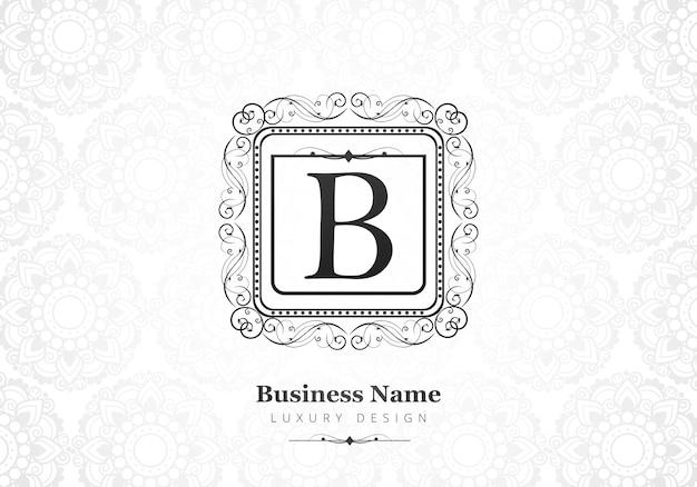 Logotipo de lujo premium letra b para empresa