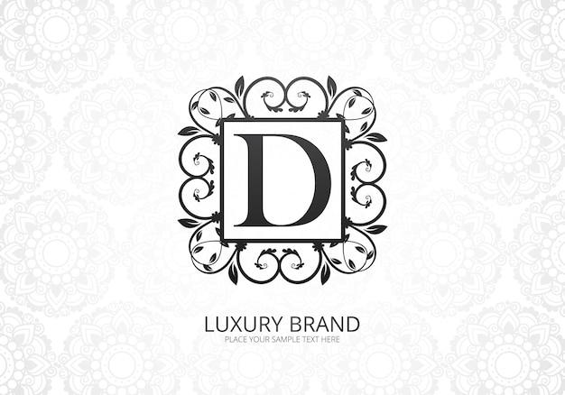 Logotipo de lujo premium letra d para empresa