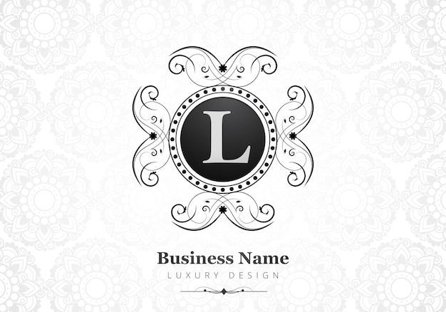 Logotipo de lujo premium letra l para empresa