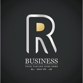 Logotipo lujoso con la letra r