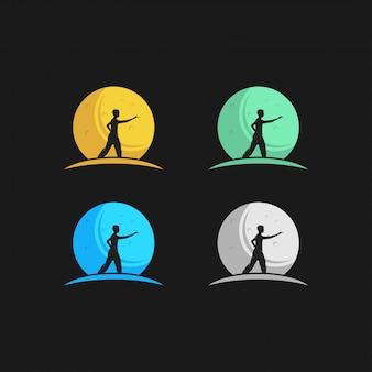 Logotipo de la luna de defensa personal