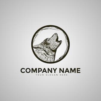 El logotipo de la luna lobo