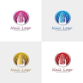 Logotipo de luxury nail salon