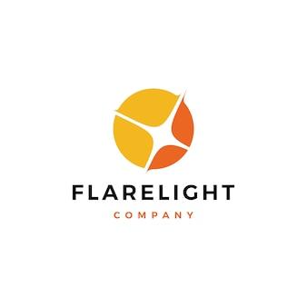 Logotipo de luz de bengala