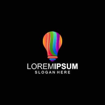 Logotipo de luz colorida