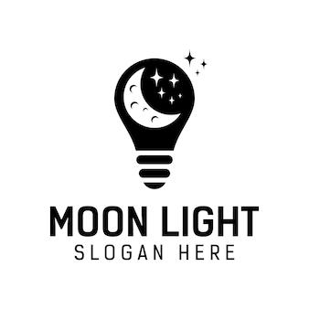 Logotipo de luz de luna. plantilla de diseño de logotipo de inspiración de sueño nocturno