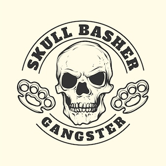 Logotipo de la mafia de gángster vintage