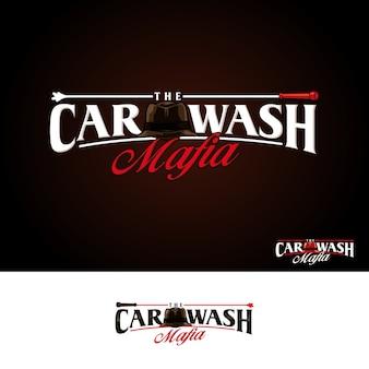 Logotipo de mafia de lavado de autos