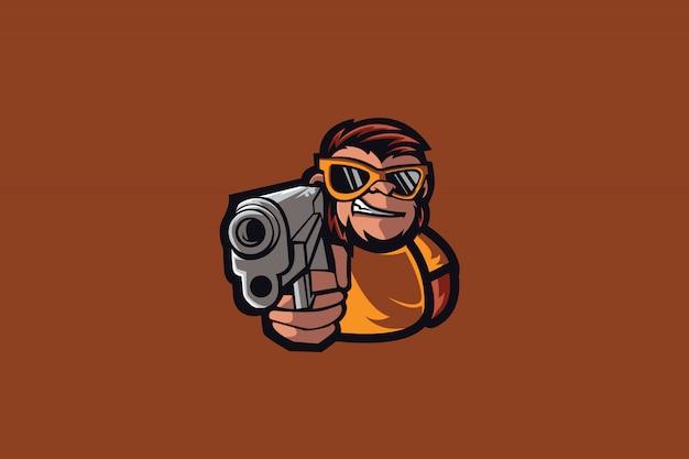 Logotipo de mafia monkey e sports