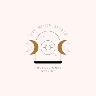 Logotipo de la magia de la luna