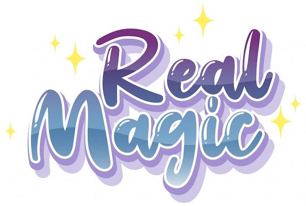 Logotipo de magia real en color pastel con brillantes