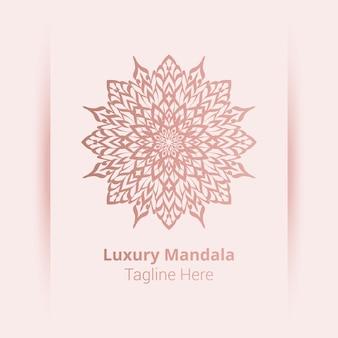 Logotipo de mandala ornamental de lujo, estilo arabesco.