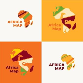 Logotipo del mapa de áfrica